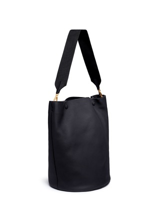 Figure View - Click To Enlarge - Marni - Large pebbled leather bucket bag
