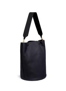 MarniLarge pebbled leather bucket bag