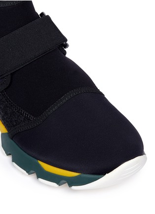 Detail View - Click To Enlarge - Marni - Neoprene high top sneaker booties