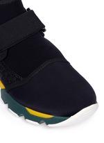 Neoprene high top sneaker booties