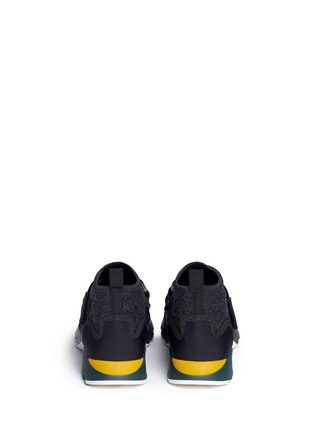 Back View - Click To Enlarge - Marni - Neoprene high top sneaker booties