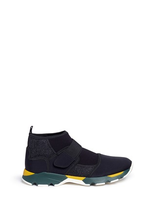 Main View - Click To Enlarge - Marni - Neoprene high top sneaker booties