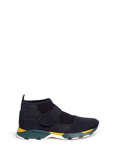 Marni Neoprene high top sneaker booties