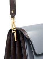'Trunk' colourblock leather flap bag