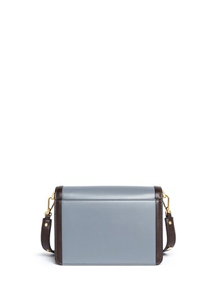 Back View - Click To Enlarge - Marni - 'Trunk' colourblock leather flap bag