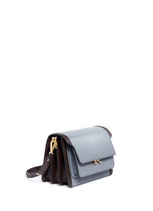 Front View - Click To Enlarge - Marni - 'Trunk' medium colourblock leather flap bag