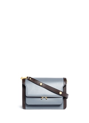 Main View - Click To Enlarge - Marni - 'Trunk' colourblock leather flap bag