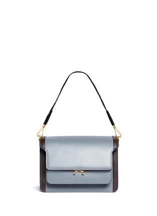 Figure View - Click To Enlarge - Marni - 'Trunk' medium colourblock leather flap bag