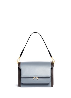 Marni'Trunk' colourblock leather flap bag