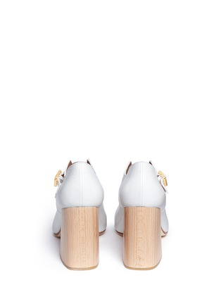 Back View - Click To Enlarge - Marni - Varnished leather Mary Jane pumps