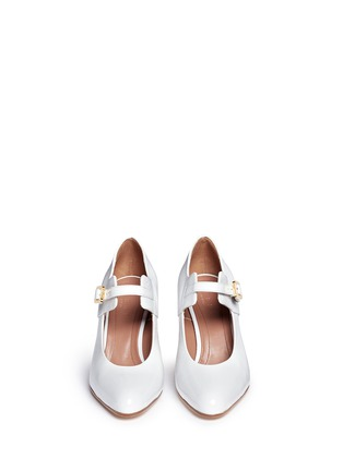 Front View - Click To Enlarge - Marni - Varnished leather Mary Jane pumps