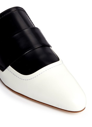 Detail View - Click To Enlarge - Marni - 'Sabot' colourblock leather slide loafers