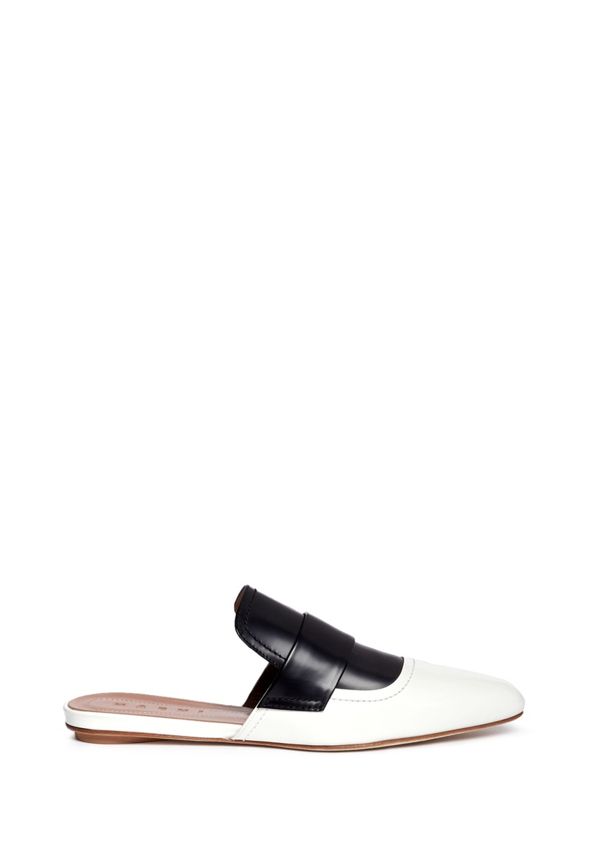 Sabot colourblock leather slide loafers by Marni