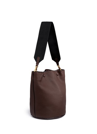Front View - Click To Enlarge - Marni - Small pebbled leather bucket bag