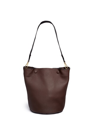 Main View - Click To Enlarge - Marni - Small pebbled leather bucket bag