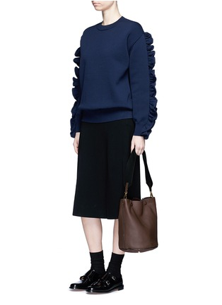Figure View - Click To Enlarge - Marni - Small pebbled leather bucket bag
