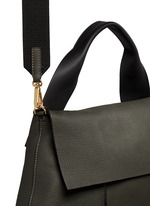 'City Pod' pebbled leather bag