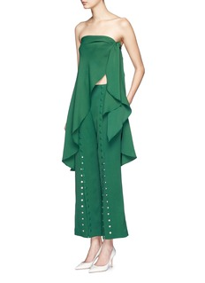 ROSIE ASSOULIN 'She's Come Undone' button kick flare crepe pants