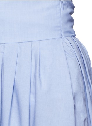 Detail View - Click To Enlarge - Rosie Assoulin - 'Morning After' cutout waist chambray maxi skirt