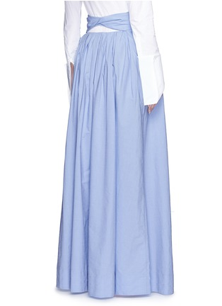 Back View - Click To Enlarge - Rosie Assoulin - 'Morning After' cutout waist chambray maxi skirt
