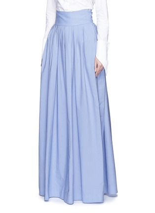 Front View - Click To Enlarge - Rosie Assoulin - 'Morning After' cutout waist chambray maxi skirt