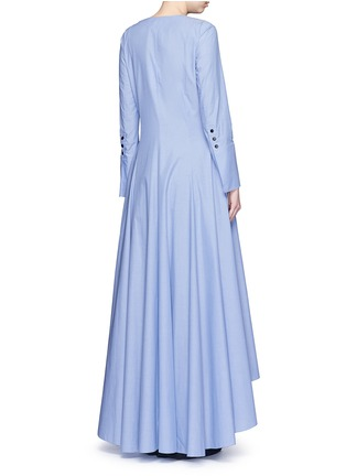 Back View - Click To Enlarge - Rosie Assoulin - 'Francisican' button down chambray maxi dress