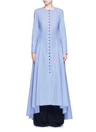 Main View - Click To Enlarge - Rosie Assoulin - 'Francisican' button down chambray maxi dress