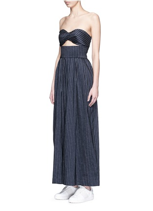 Figure View - Click To Enlarge - Rosie Assoulin - 'Morning After' pinstripe cutout cotton jumpsuit