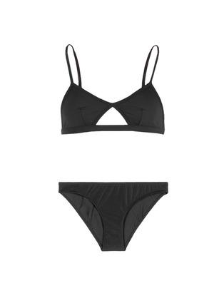 Main View - Click To Enlarge - So Noire - 'Biarritz' cutout triangle bikini set