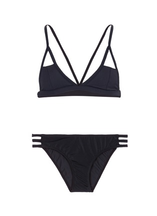 Main View - Click To Enlarge - So Noire - 'St Tropez' harness cutout triangle bikini set
