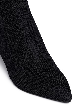 Detail View - Click To Enlarge - Ash - 'Dream' mix knit ankle boots