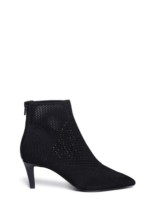 Main View - Click To Enlarge - Ash - 'Dream' mix knit ankle boots