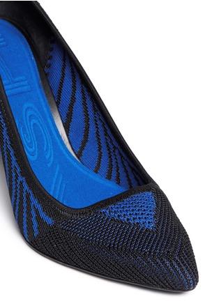 细节 - 点击放大 - ASH - CYRUS几何线条针织尖头高跟鞋