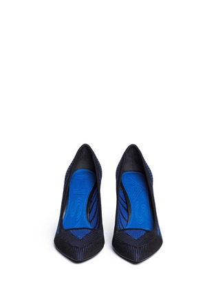 模特儿示范图 - 点击放大 - ASH - CYRUS几何线条针织尖头高跟鞋
