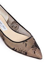 'Alina' floral lace skimmer flats