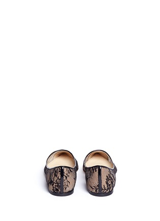Back View - Click To Enlarge - Jimmy Choo - 'Alina' floral lace skimmer flats