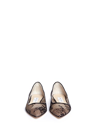 Figure View - Click To Enlarge - Jimmy Choo - 'Alina' floral lace skimmer flats