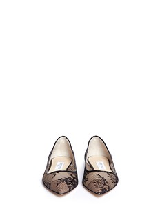 JIMMY CHOO'Alina' floral lace skimmer flats