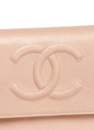 Detail View - Click To Enlarge - Vintage Chanel - Caviar leather wallet on chain