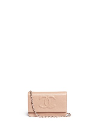Main View - Click To Enlarge - Vintage Chanel - Caviar leather wallet on chain