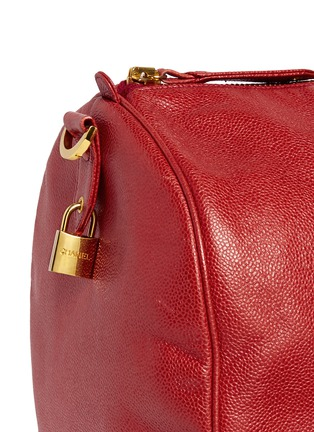 Detail View - Click To Enlarge - Vintage Chanel - Large caviar leather Boston duffle bag