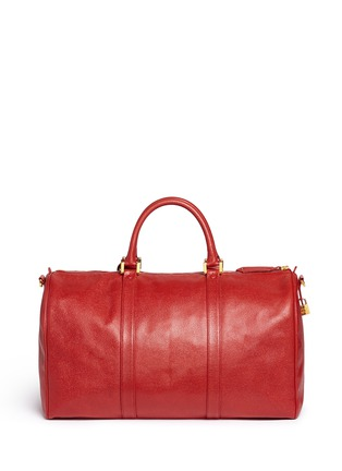 Back View - Click To Enlarge - Vintage Chanel - Large caviar leather Boston duffle bag