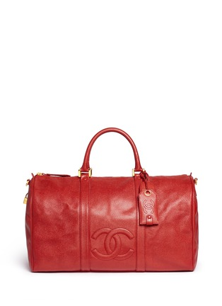 Main View - Click To Enlarge - Vintage Chanel - Large caviar leather Boston duffle bag