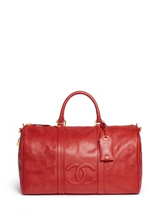 Vintage Chanel Large caviar leather Boston duffle bag