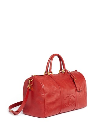 Figure View - Click To Enlarge - Vintage Chanel - Large caviar leather Boston duffle bag