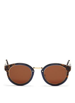 首图 - 点击放大 - SUPER - PANAMA中性款玳瑁拼色圆框太阳眼镜
