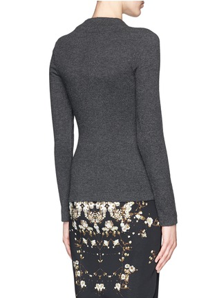 Back View - Click To Enlarge - Givenchy Beauty - Drape knot wool-cashmere sweater