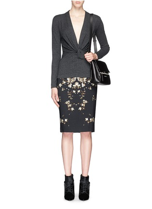 Figure View - Click To Enlarge - Givenchy Beauty - Drape knot wool-cashmere sweater
