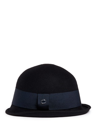 Figure View - Click To Enlarge - Armani Collezioni - Felted wool cloche hat