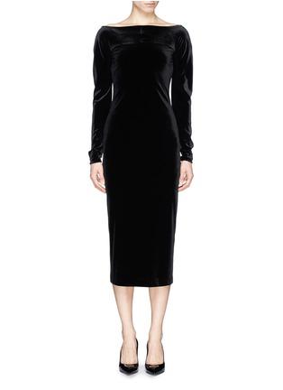 首图 - 点击放大 - ARMANI COLLEZIONI - Bateau neck velvet dress